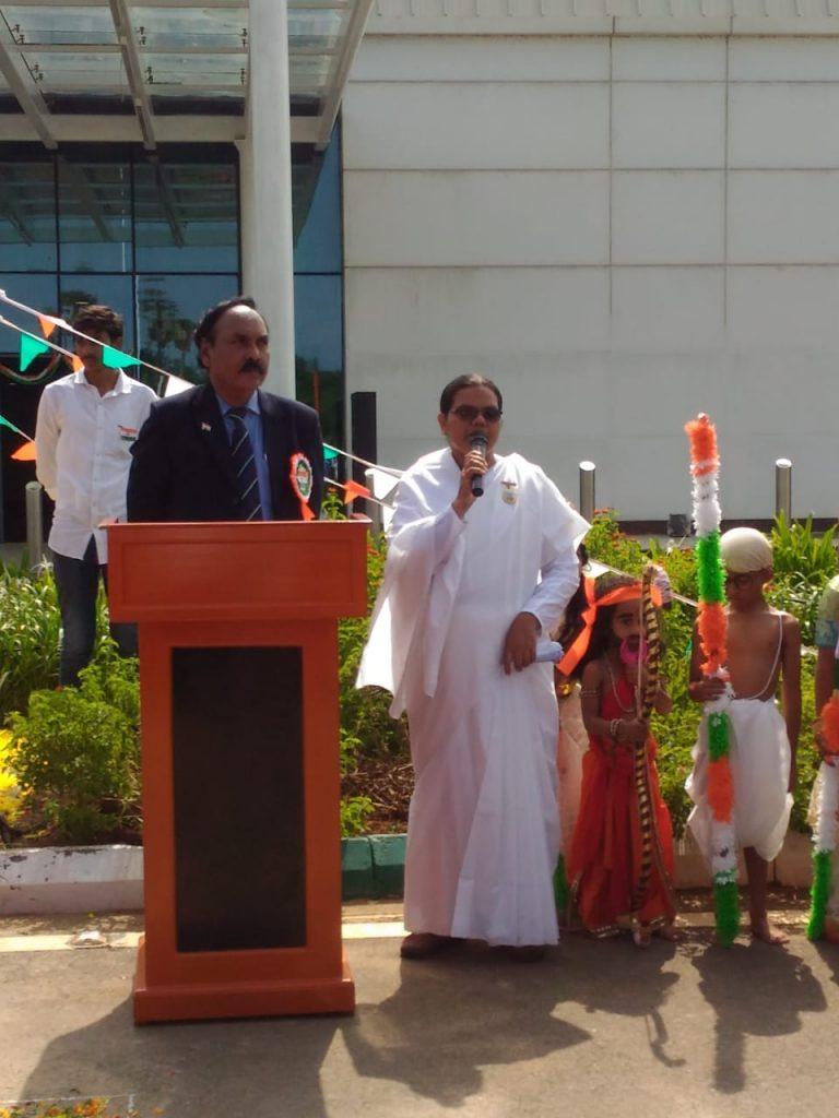 Raksha Bhandhan and Independence day celebrations @ Gannavaram Airport
